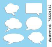 vector set of stickers of... | Shutterstock .eps vector #783306862