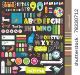 scrapbook elements with letters | Shutterstock .eps vector #78330712