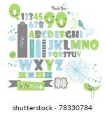 sweet character font set  very... | Shutterstock .eps vector #78330784