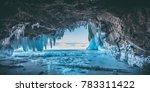 Ice Cave  Lake Baikal  Winter...