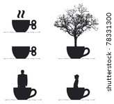 crazy cup of coffee   Shutterstock .eps vector #78331300