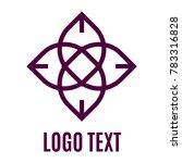 outline geometric floral logo | Shutterstock .eps vector #783316828