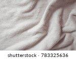 folds of soft white matter  | Shutterstock . vector #783325636
