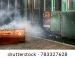 vintage green railway coach... | Shutterstock . vector #783327628