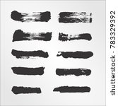 vector black ink paint brush... | Shutterstock .eps vector #783329392
