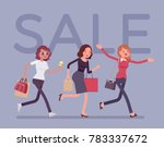 sale season in the store. young ... | Shutterstock .eps vector #783337672