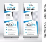 roll up banner design template  ... | Shutterstock .eps vector #783340096