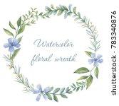 floral wreath. botanical... | Shutterstock . vector #783340876