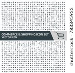shopping and commerce icon set... | Shutterstock .eps vector #783345922