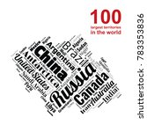 100 biggest countries word... | Shutterstock .eps vector #783353836