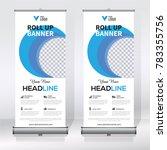 roll up banner design template  ... | Shutterstock .eps vector #783355756