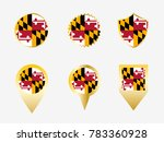vector flag set of maryland  us ... | Shutterstock .eps vector #783360928