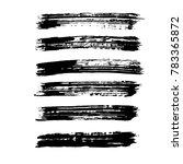 brush stroke set. texture. | Shutterstock .eps vector #783365872