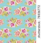 seamless wallpaper pattern with ... | Shutterstock .eps vector #78336772