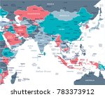 southern asia map   detailed... | Shutterstock .eps vector #783373912