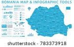 romania map   detailed info... | Shutterstock .eps vector #783373918