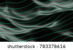 abstract 3d rendering of smooth ... | Shutterstock . vector #783378616