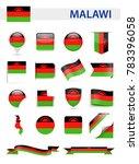 malawi flag set   vector... | Shutterstock .eps vector #783396058