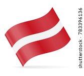 latvia flag vector waving icon  ... | Shutterstock .eps vector #783396136