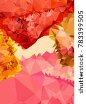 vertical background low poly...   Shutterstock .eps vector #783399505