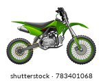 off road green motorcycle  | Shutterstock .eps vector #783401068