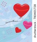 valentine's day concept heart... | Shutterstock .eps vector #783401728