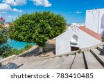 greek orthodox church in lindos ... | Shutterstock . vector #783410485