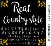 vector set of handcrafted fonts ... | Shutterstock .eps vector #783412006