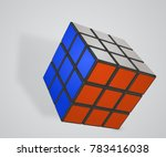 vector illustration of rubik's... | Shutterstock .eps vector #783416038