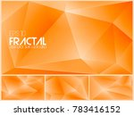 fractal abstract background... | Shutterstock .eps vector #783416152