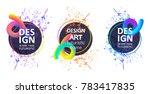 vector framework for text.... | Shutterstock .eps vector #783417835