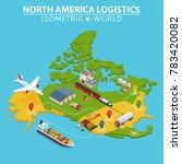 usa transportation and... | Shutterstock .eps vector #783420082