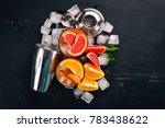 a variety of cocktails of... | Shutterstock . vector #783438622