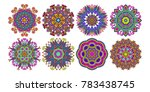 set of decorative circle... | Shutterstock .eps vector #783438745