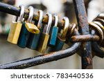 padlocks on the well in the... | Shutterstock . vector #783440536