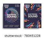 electronic music poster. modern ...   Shutterstock .eps vector #783451228