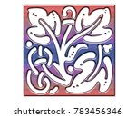 beautiful ornaments for... | Shutterstock . vector #783456346