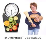 woman with a scale | Shutterstock . vector #783460102