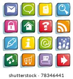 funny internet color buttons...   Shutterstock .eps vector #78346441