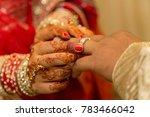 indian wedding rings exchange  | Shutterstock . vector #783466042