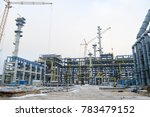construction of a new oil... | Shutterstock . vector #783479152