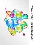 abstract vector background with ... | Shutterstock .eps vector #78347962