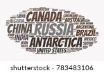 100 biggest countries word... | Shutterstock .eps vector #783483106