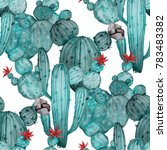 watercolor seamless pattern... | Shutterstock . vector #783483382