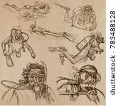 an hand drawn collection ... | Shutterstock .eps vector #783488128