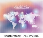 world map in white color and... | Shutterstock .eps vector #783499606