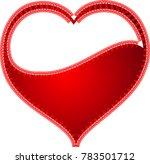 red heart valentine love logo... | Shutterstock .eps vector #783501712