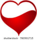 red heart valentine love logo... | Shutterstock .eps vector #783501715