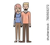 couple in colored crayon... | Shutterstock .eps vector #783503272