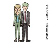 couple in colored crayon... | Shutterstock .eps vector #783503416